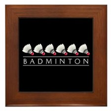 Badminton Framed Tile