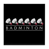 Badminton Tile Coaster