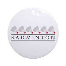 Badminton Ornament (Round)