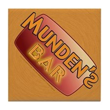 Munden's Bar brown Tile Coaster