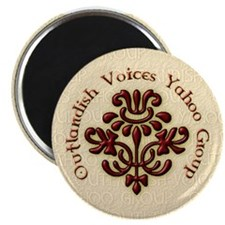 "Outlandish Voices Magnets 2.25"" Magnet (10 pack)"
