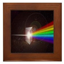 Space Prism Rainbow Spectrum Framed Tile