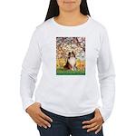 Spring / Sheltie (#1) Women's Long Sleeve T-Shirt