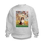 Spring / Sheltie (#1) Kids Sweatshirt