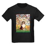 Spring / Sheltie (#1) Kids Dark T-Shirt