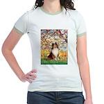 Spring / Sheltie (#1) Jr. Ringer T-Shirt