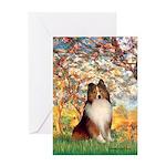 Spring / Sheltie (#1) Greeting Card