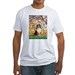 Spring / Sheltie (#1) Fitted T-Shirt