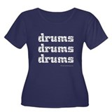 drums drums drums : Women's Plus Size Scoop Neck D