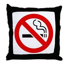 Funny Smoking bans Throw Pillow