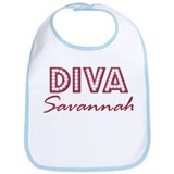 Savannah Diva Personalized Bib