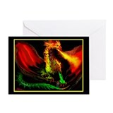 WINGED DRAGON - Greeting Card