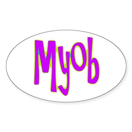 MYOB Oval Sticker