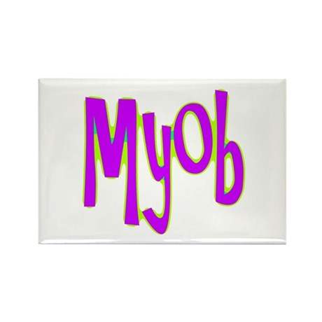 MYOB Rectangle Magnet (10 pack)