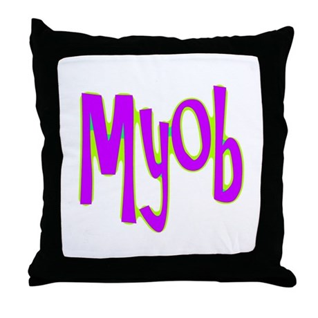 MYOB Throw Pillow