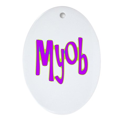 MYOB Oval Ornament