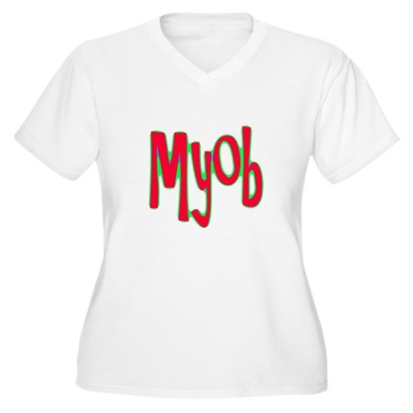 MYOB Women's Plus Size V-Neck T-Shirt