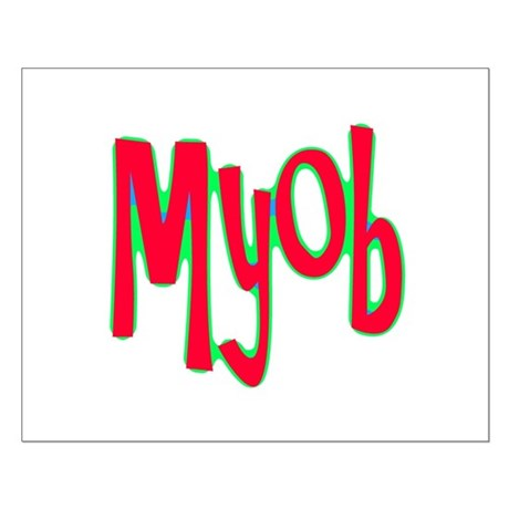 MYOB Small Poster