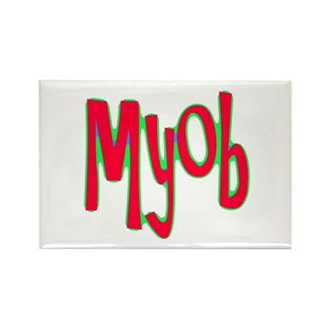 MYOB Rectangle Magnet