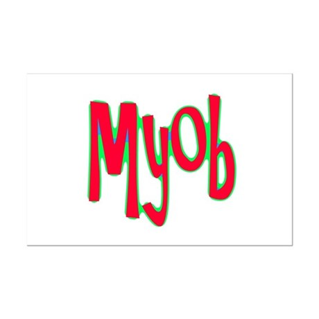 MYOB Mini Poster Print