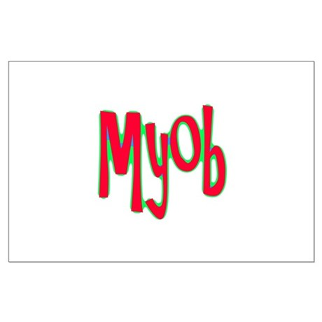 MYOB Large Poster