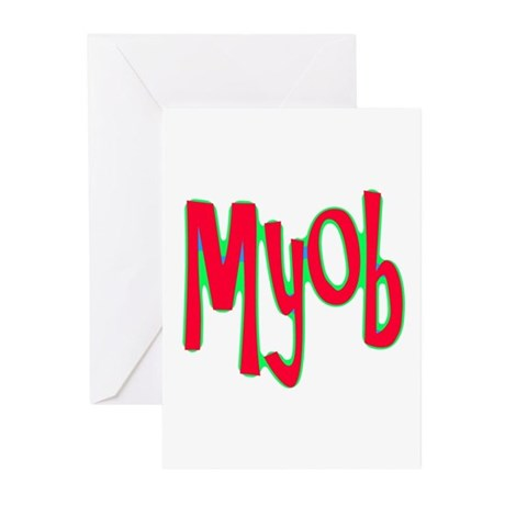 MYOB Greeting Cards (Pk of 20)