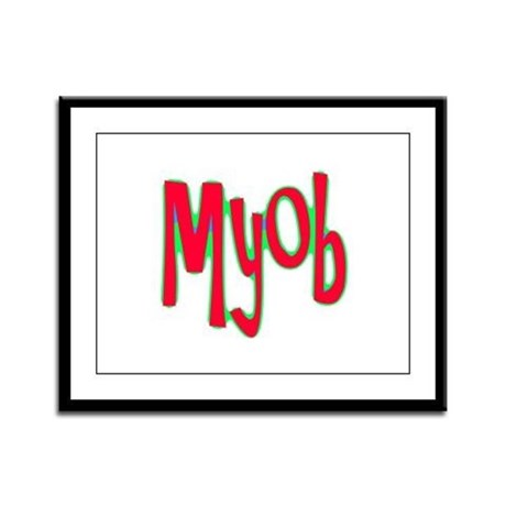 MYOB Framed Panel Print