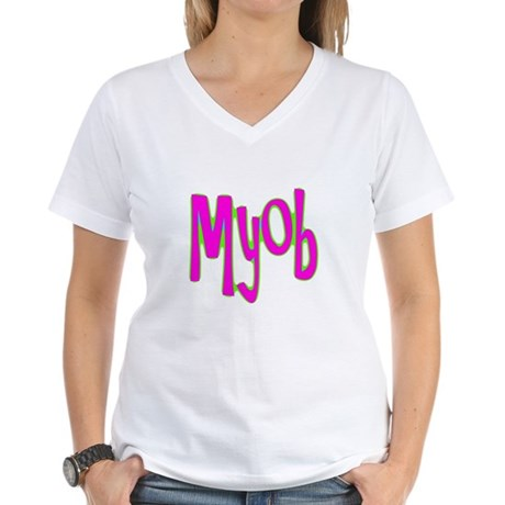 MYOB Women's V-Neck T-Shirt