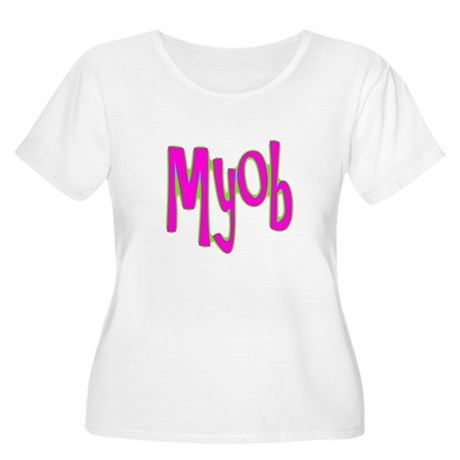 MYOB Women's Plus Size Scoop Neck T-Shirt