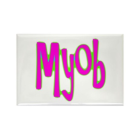 MYOB Rectangle Magnet (100 pack)