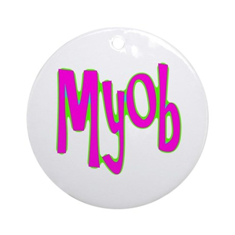 MYOB Ornament (Round)