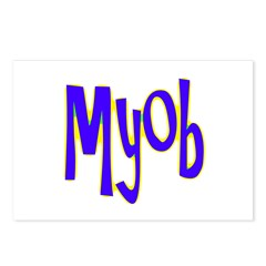 MYOB Postcards (Package of 8)