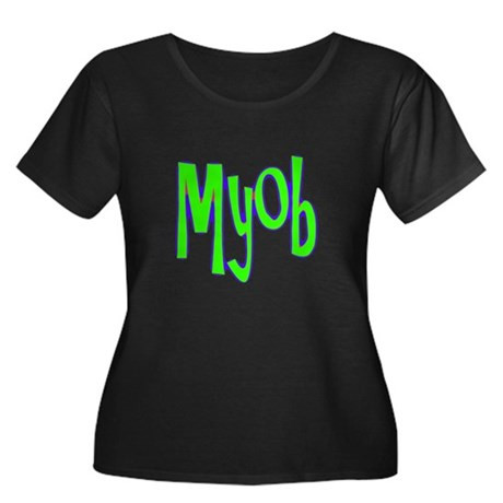 MYOB Women's Plus Size Scoop Neck Dark T-Shirt