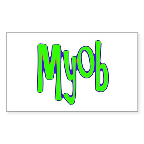 MYOB Rectangle Sticker