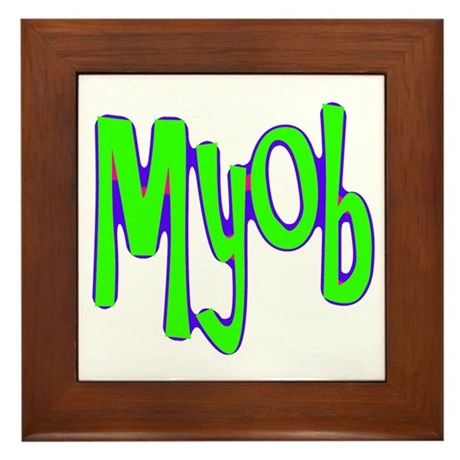 MYOB Framed Tile