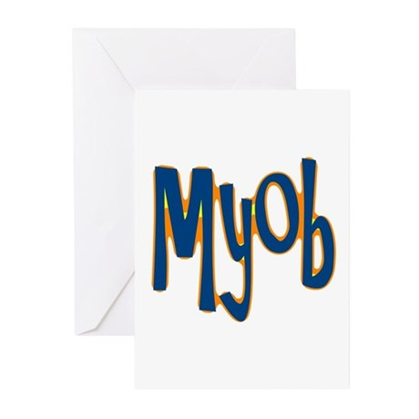 MYOB Greeting Cards (Pk of 10)