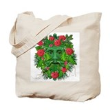Green Man w/Roses Tote Bag