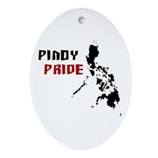 Pinoy Pride - back Oval Ornament