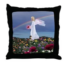 July Angel : Throw Pillow