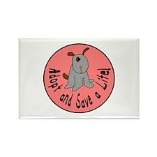 Adopt and Save a Life-Dog Rectangle Magnet