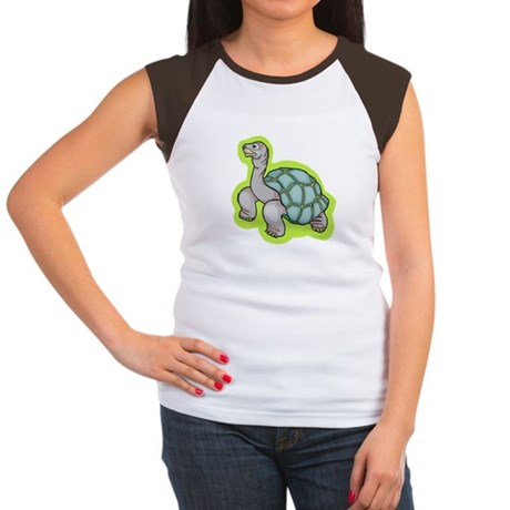 Little Turtle Women's Cap Sleeve T-Shirt