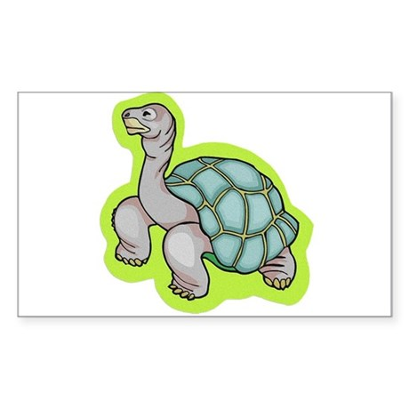 Little Turtle Rectangle Sticker