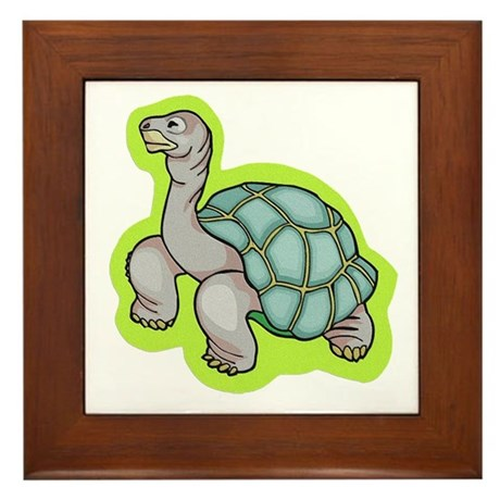 Little Turtle Framed Tile