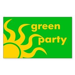 Green Party Rectangle Sticker