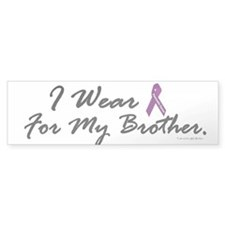 I Wear Purple (Brother PC) Bumper Bumper Sticker