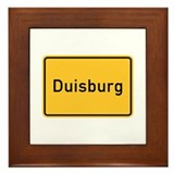 Duisburg Roadmarker, Germany Framed Tile