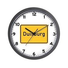 Duisburg Roadmarker, Germany Wall Clock