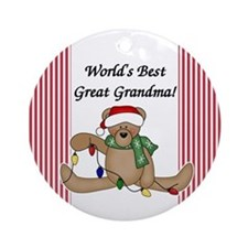 World's Best Great Grandma Ornament (Round)