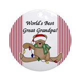 World's Best Great Grandpa Ornament (Round)