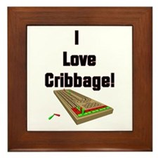 I Love Cribbage Framed Tile
